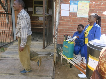 Infection control at the cholera treatment unit at ST Mary's clinic in Chitungwiza