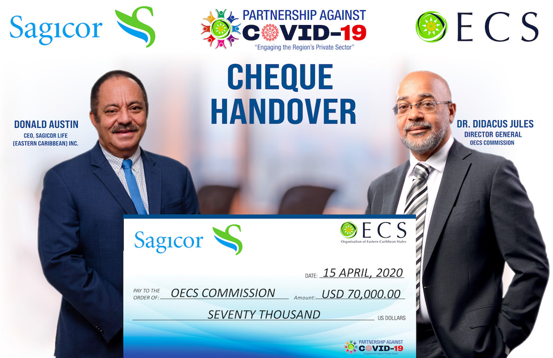 OECS Receives additional support from Sagicor to combat the spread of COVID-19