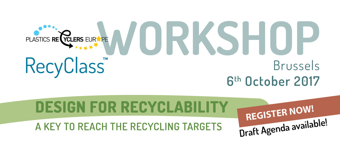 REGISTER NOW! Design for Recyclability Workshop - 6 Oct. 2017