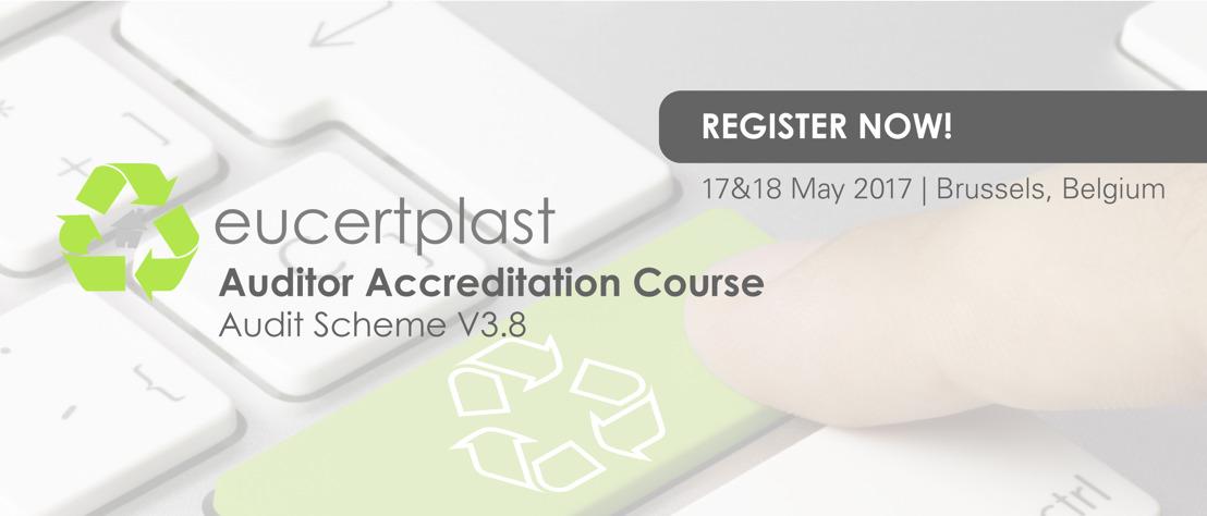 Register now! EuCertPlast Accreditation Course