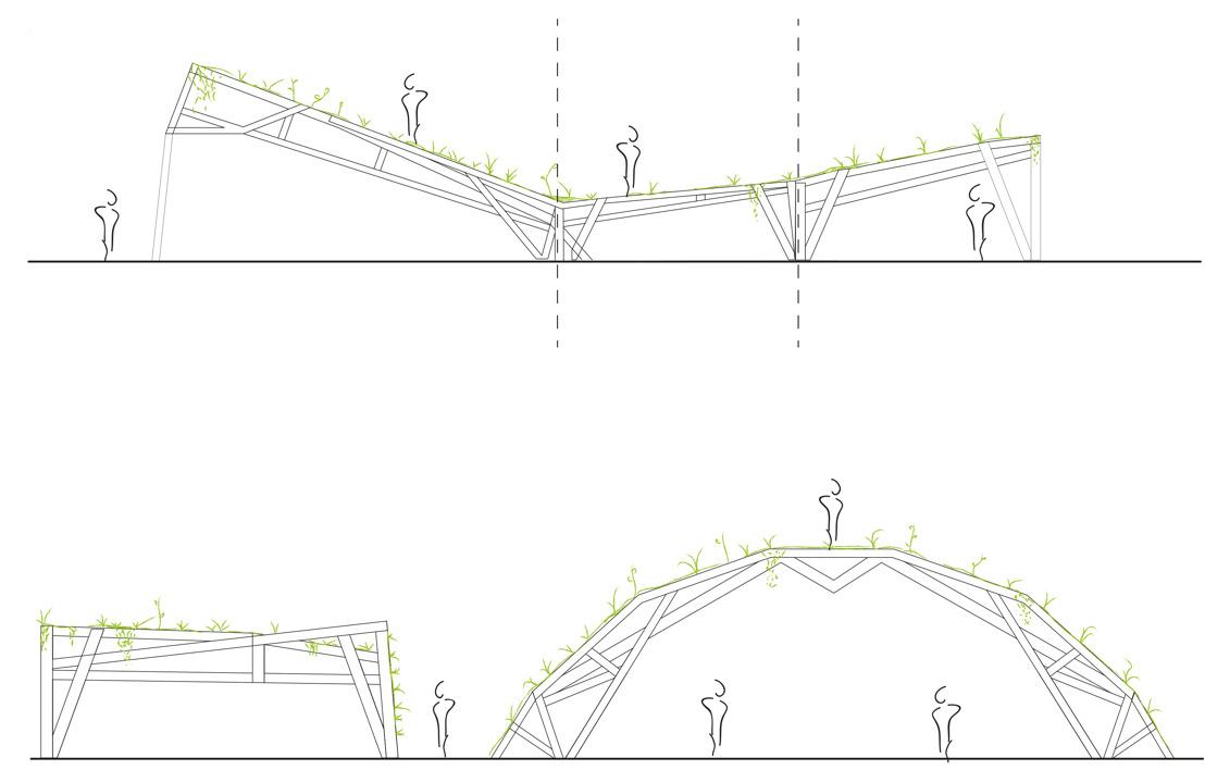 Creatie groensculptuur op het De Coninckplein in Antwerpen