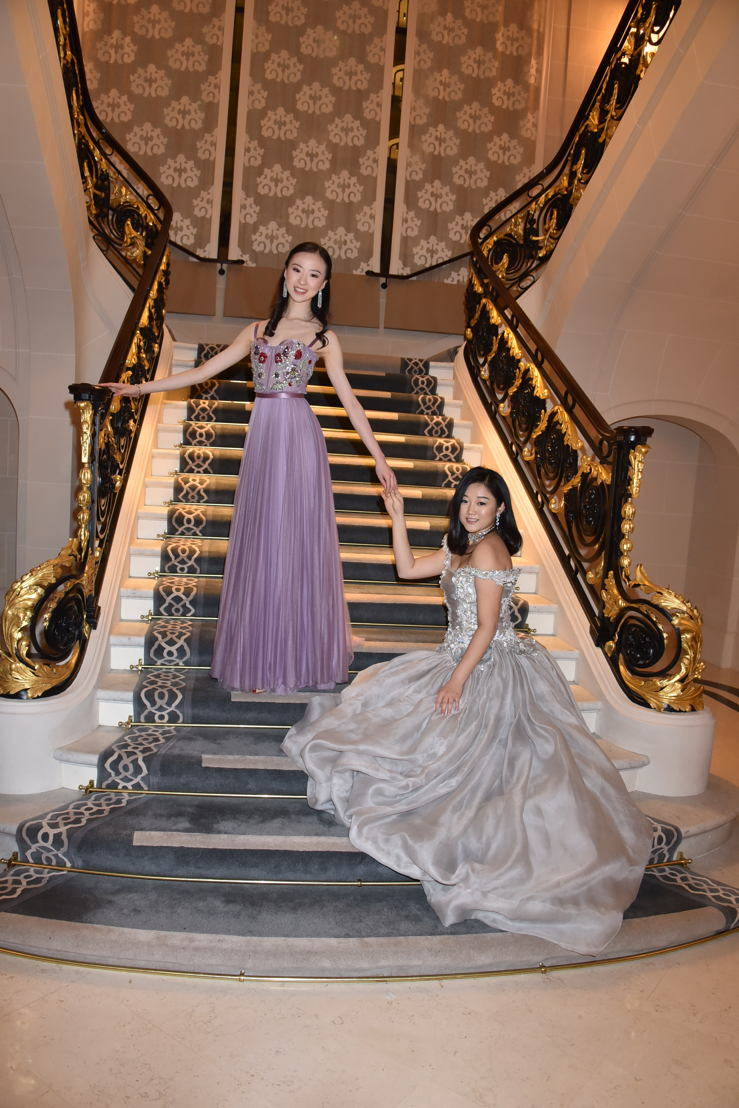 Yu Hang (in Alexander McQueen and jewelry by Payal New York) and Donna Yuan (in Guo Pei and jewerly by Payal New York), Photo by Jean Luce Huré