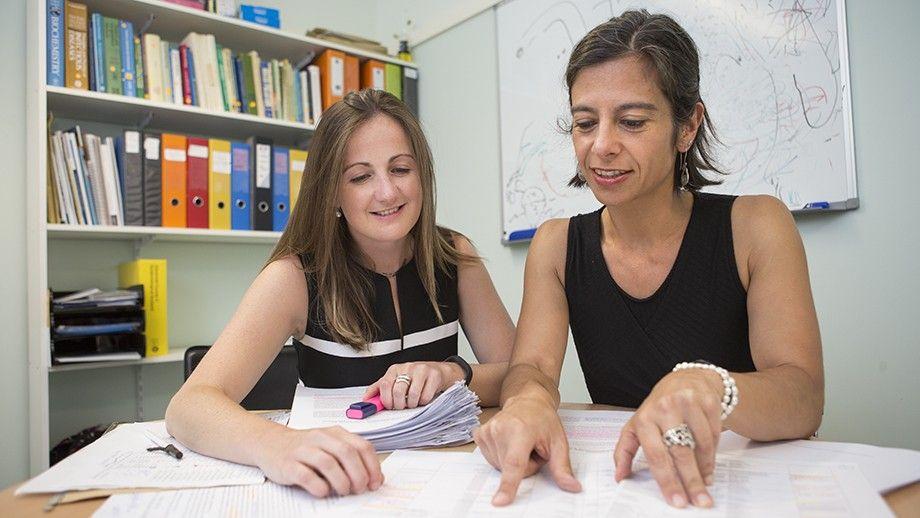 Dr Naomi Clarke and Associate Professor Susana Vaz Nery. Credit: Stuart Hay, ANU