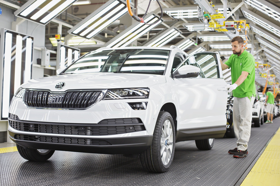 Milestone reached earlier than ever: one million ŠKODA vehicles already produced in 2017