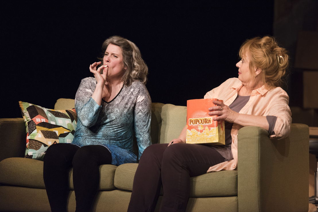 Alison Kelly, and Barbara Pollard in the 2016 production of Mom's the Word: Nest ½ Empty. Set and costume design by Pam Johnson and lighting design by Marsha Sibthorpe. Photo by Emily Cooper