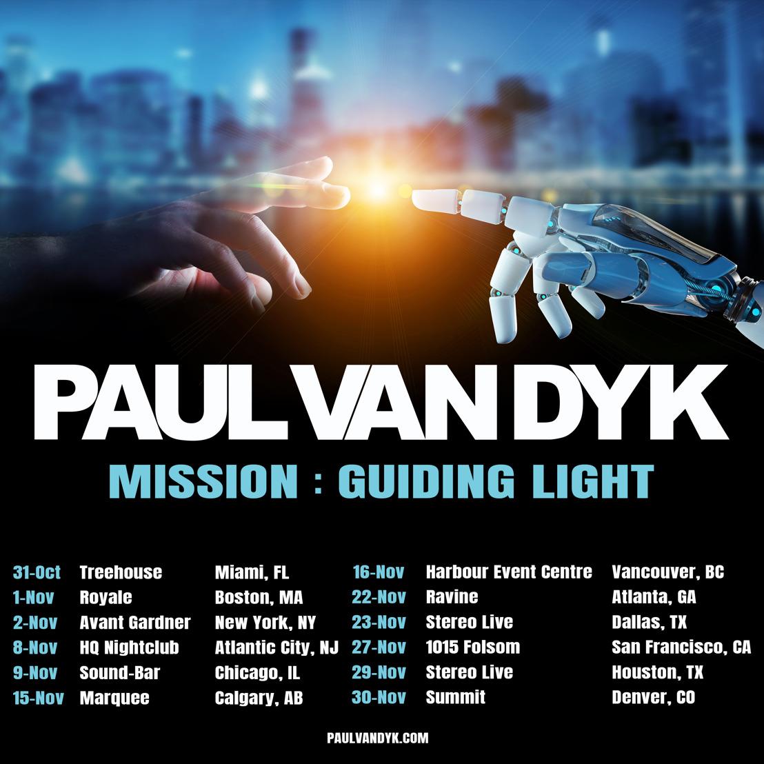 Paul van Dyk Announces Fall Tour of North America