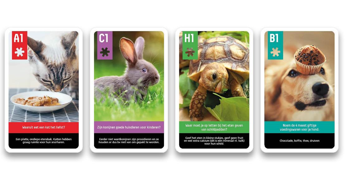 Leerlingen ontdekken dierenwelzijn met kwartetspel
