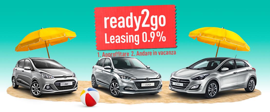 ready2go? Hyundai addolcisce il periodo delle ferie con un tasso di leasing speciale dello 0.9% per i10, i20 e i30