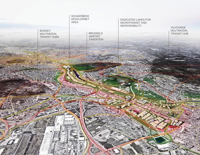 Solution aux embouteillages : hubs multimodaux en périphérie urbaine et voies séparées jusqu'au lieu de travail