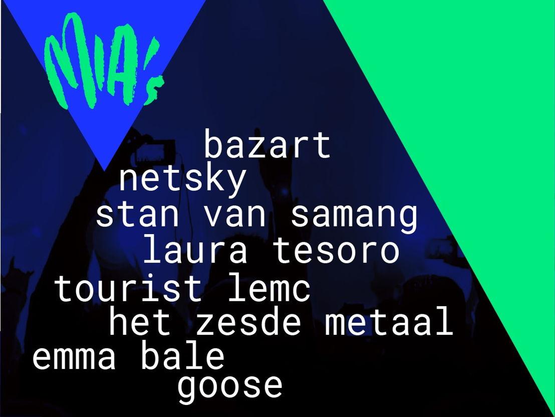 Line-up MIA's 2016 © VRT