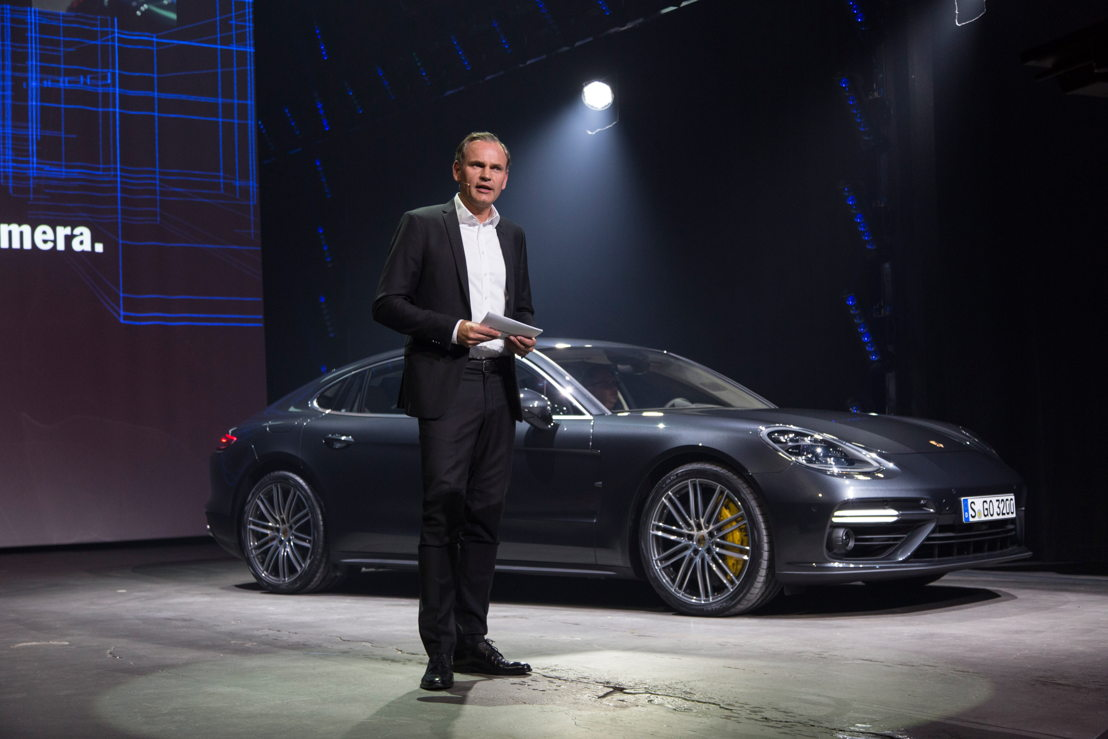 World premiere in Berlin: Oliver Blume, Chairman of the Executive Board Dr. Ing. h.c. F. Porsche AG, presents the new Panamera.