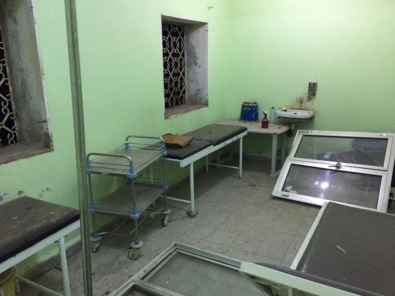 Het Al-Gamhourri-ziekenhuis in Hajjah, dat getroffen werd door een luchtaanval. 5 december 2017 ©AZG