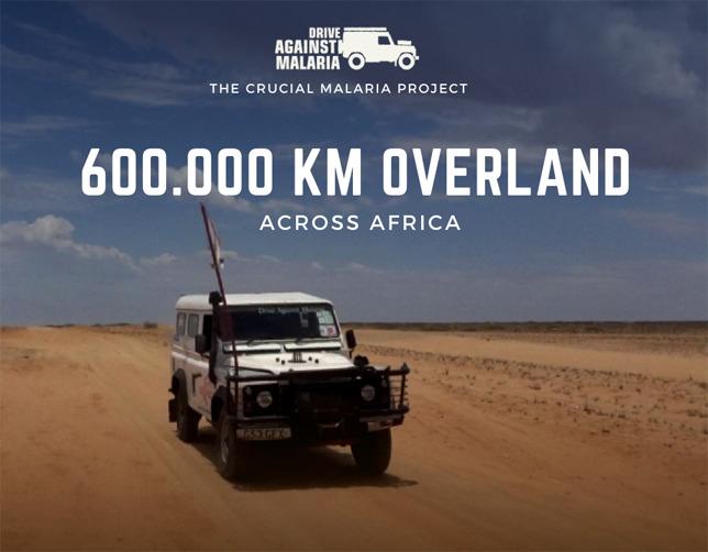 DRIVE AGAINST MALARIA BEREIKT MIJLPAAL: 600.000 KM MET LAND ROVER