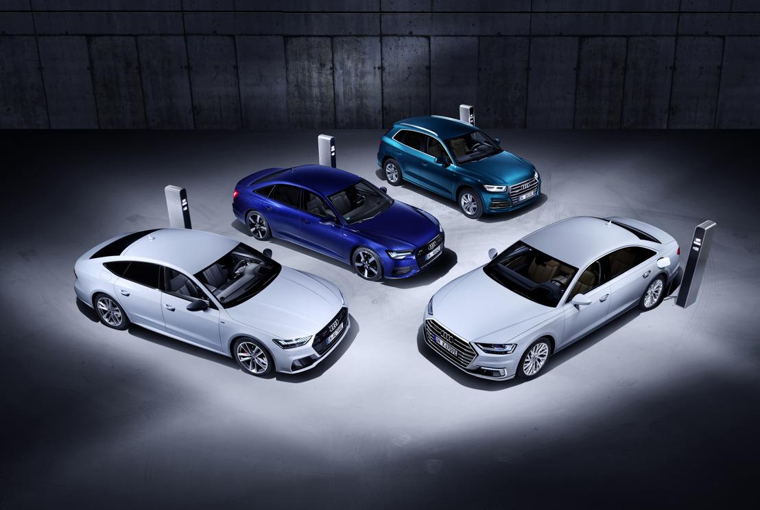 Efficiënt en krachtig: de nieuwe plug-inhybridemodellen Audi Q5, A6, A7 en A8