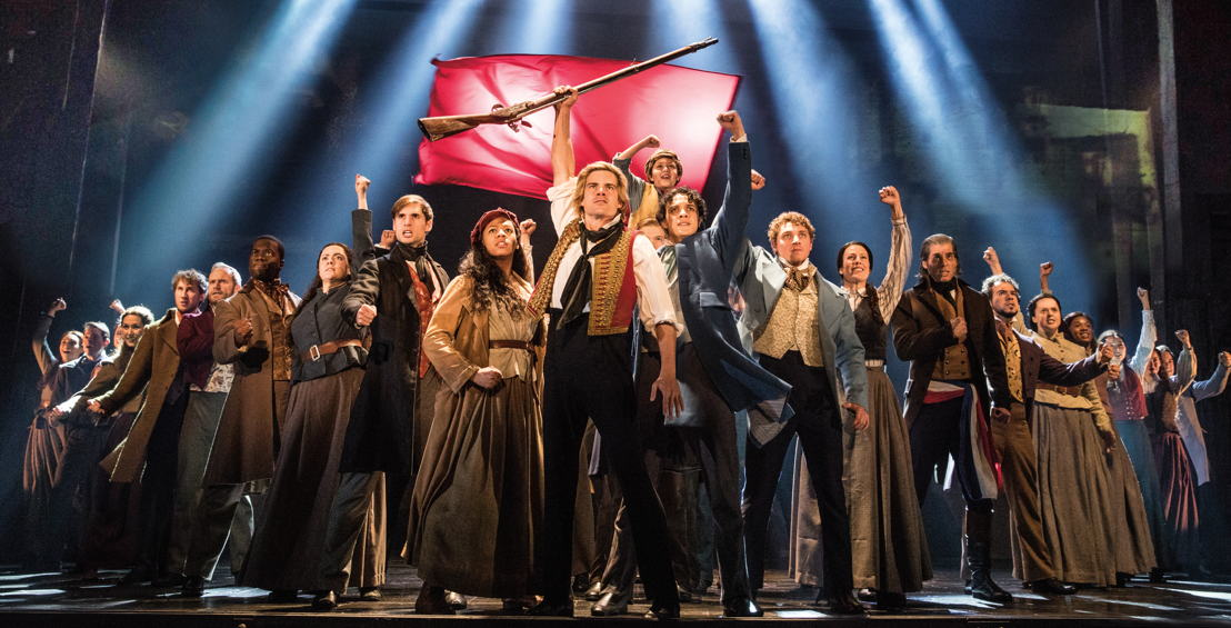 The company of LES MISÉRABLES performs One Day More
