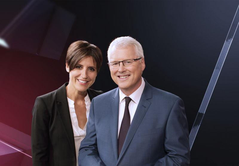 Emma Alberici & Tony Jones, hosts of Lateline