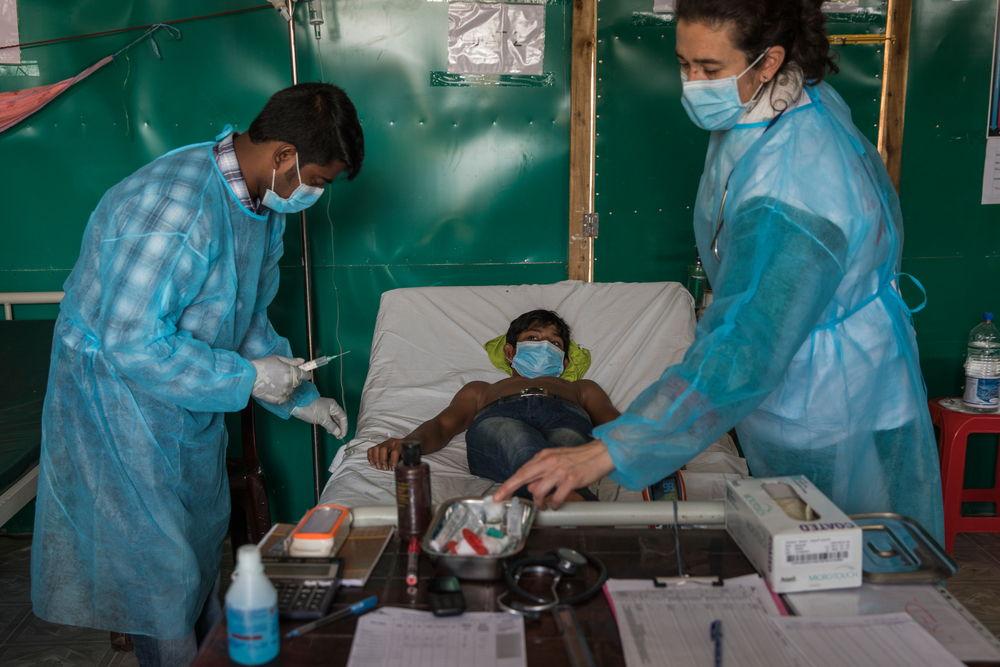 Het behandelingscentrum voor difterie in Moynarghona  © Anna Surinyach