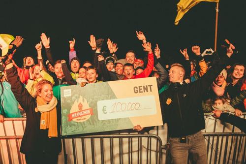 Warmathon in Gent brengt 100 000 euro op voor alle goede doelen van Music For Life