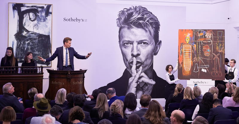 Bowie Collector - 10 Nov  2016 Evening sale - Sotheby's London :  photo credit: © Sotheby's, Bowie portrait by Gavin Evans
