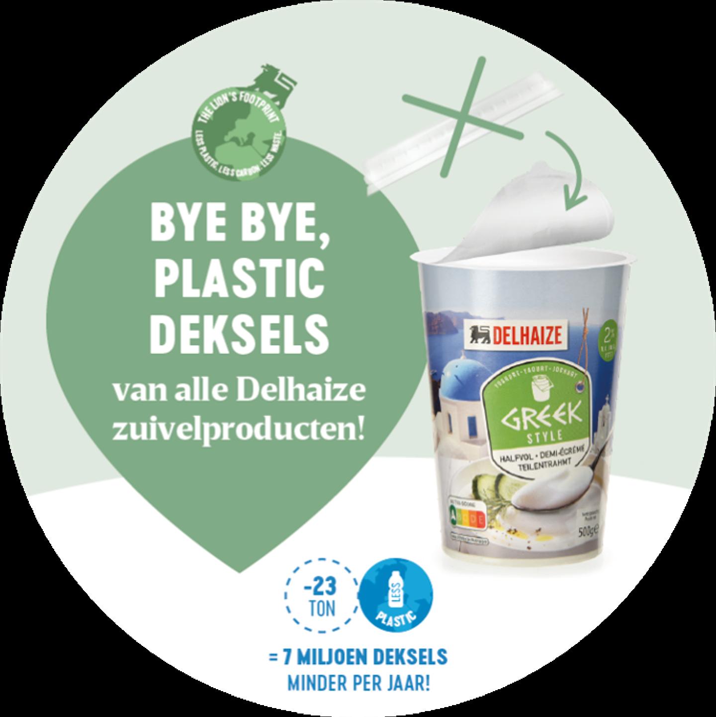 """Operatie """"plastic deksel"""" bij Delhaize : 7 miljoen deksels minder per jaar"""