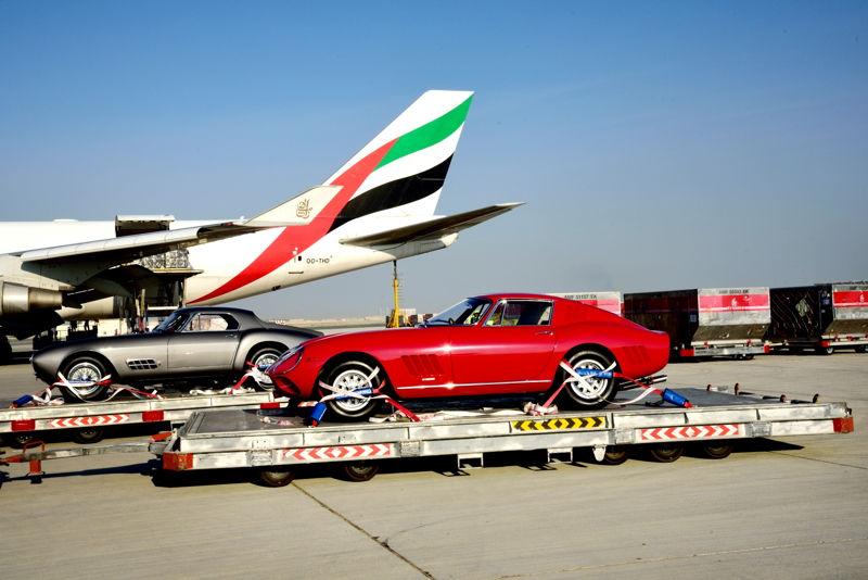 Emirates SkyCargo transports Classic Ferraris for Gulf Concours
