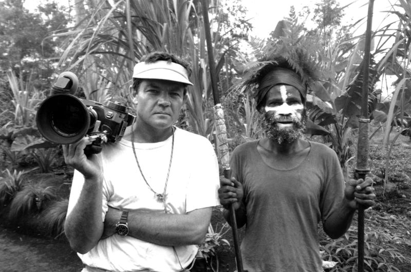 Bob Connolly with Madang, who died hours later in tribal warfare, during making of Black Harvest