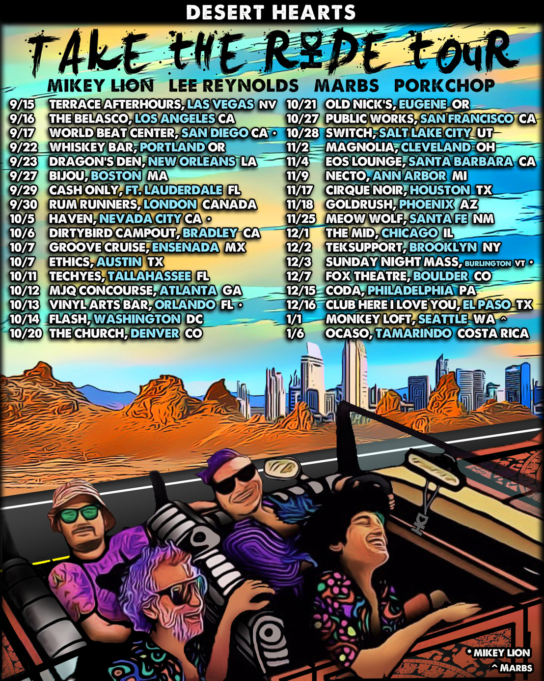 Desert Hearts Announces 'Take The Ride' Fall and Winter Tour
