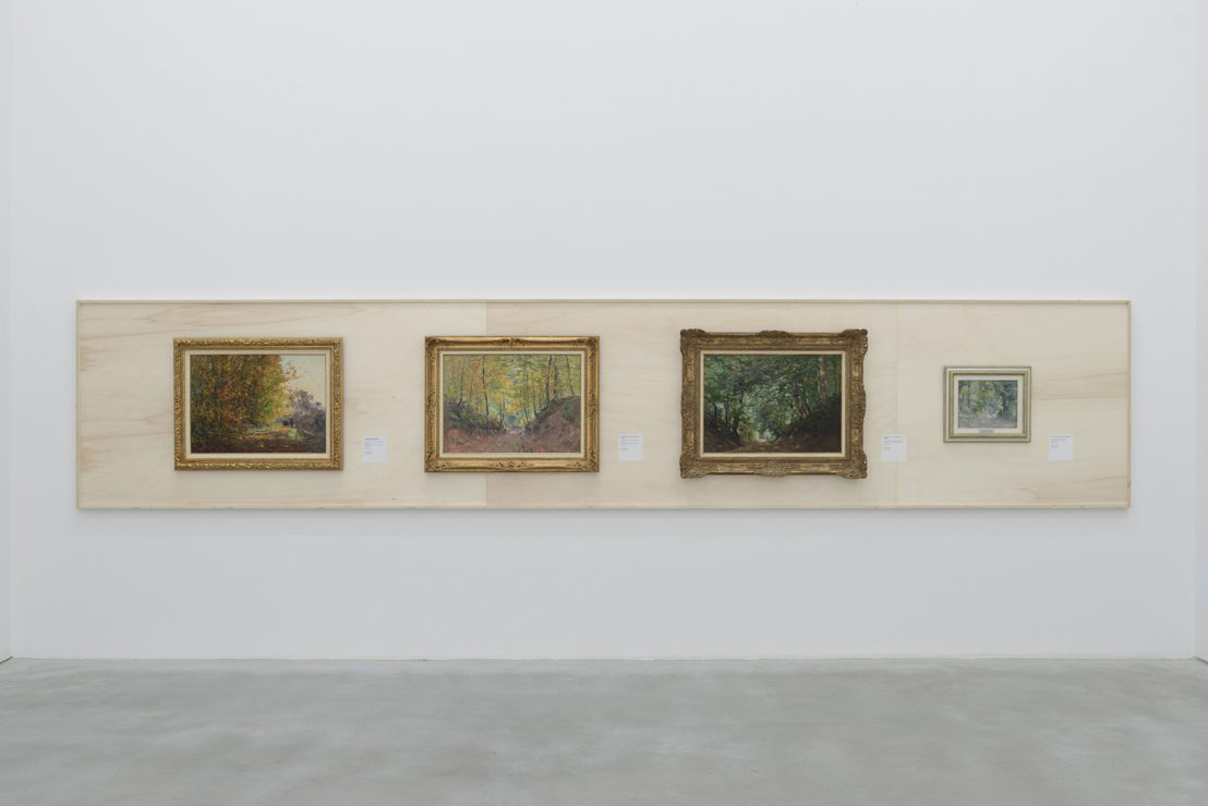 View at the exhibition PLEIN AIR with works from Lucien Frank (c) Isabelle Arthuis