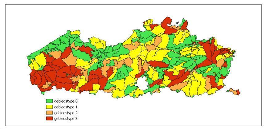 figuur 1 Voorlopige kaart met gebiedstypes MAP 6 2021-2022