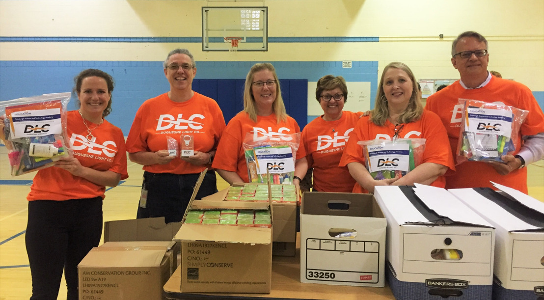 Duquesne Light OGC Employees Assemble Homework Kits for Local Students