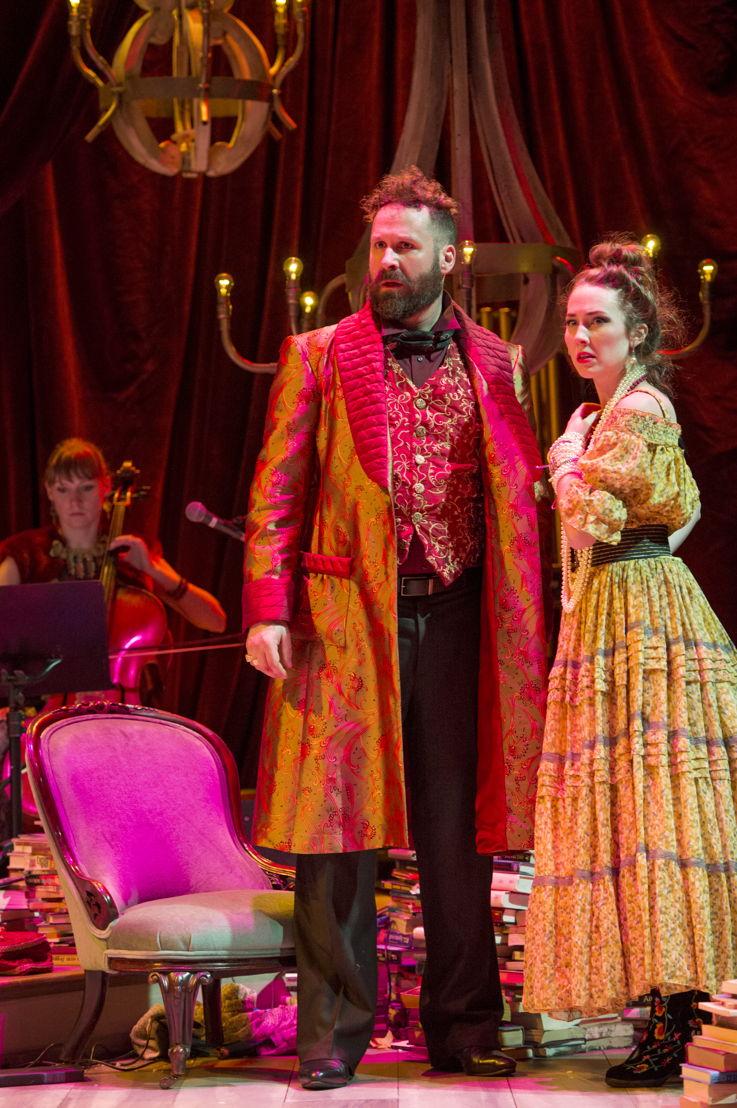 Andrew McNee and Lauren Jackson in Onegin. Photo by David Cooper.