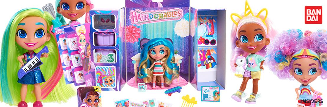 Bandai presenta Hairdorables de Just Play, las muñecas más divertidas para jugar a convertirse en una estrella de YouTube