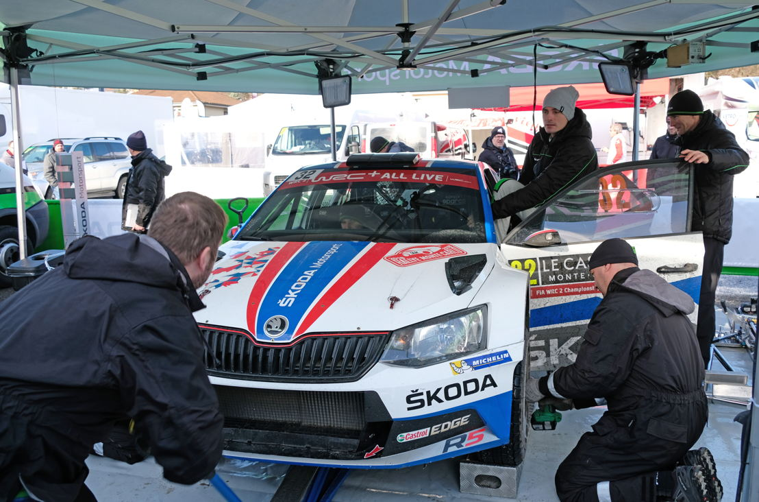 The combination Jan Kopecký/Pavel Dresler and ŠKODA FABIA R5 is dominating both WRC 2 category and RC 2 class at the opening round of the FIA World Rally Championship 2018, the Rally Monte-Carlo