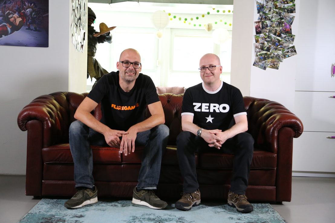 Klaas Kersting (Flaregames CEO) and Stuart Maine (Well Played Games co-founder)