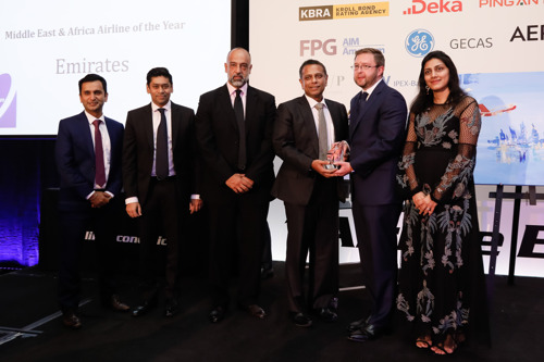 Emirates is Middle East & Africa Airline of the Year at Aviation 100 Awards