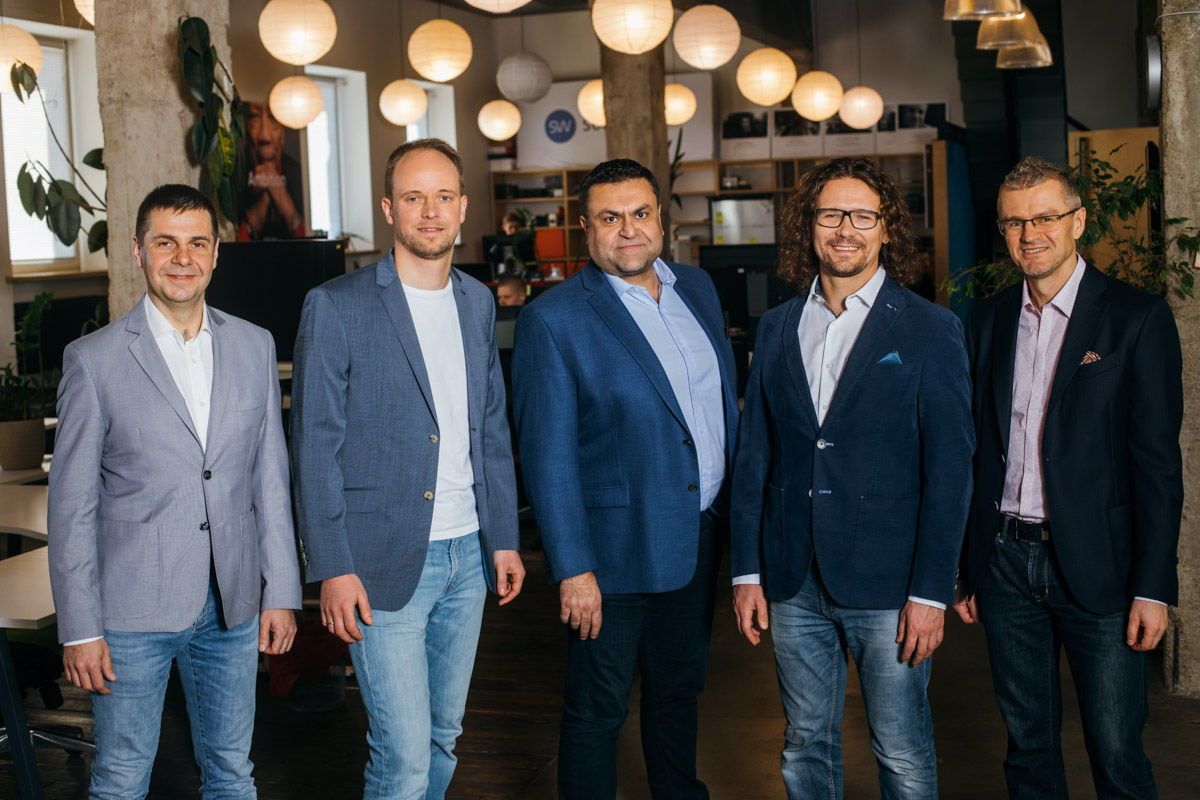 Sonarworks' Management Board, L-R: Aleksis Orlovs, CFO; Martins Popelis, Co-Founder & VP Products; Tarif Sayed, VP Strategy & Business Development; Helmuts Bems, Co-Founder & CEO; and Janis Spogis, Partner & VP Products