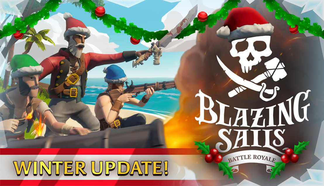 New Winter Update & Trailer for Our Biggest Game Ever on Twitch: Blazing Sails - Pirate Battle Royale!