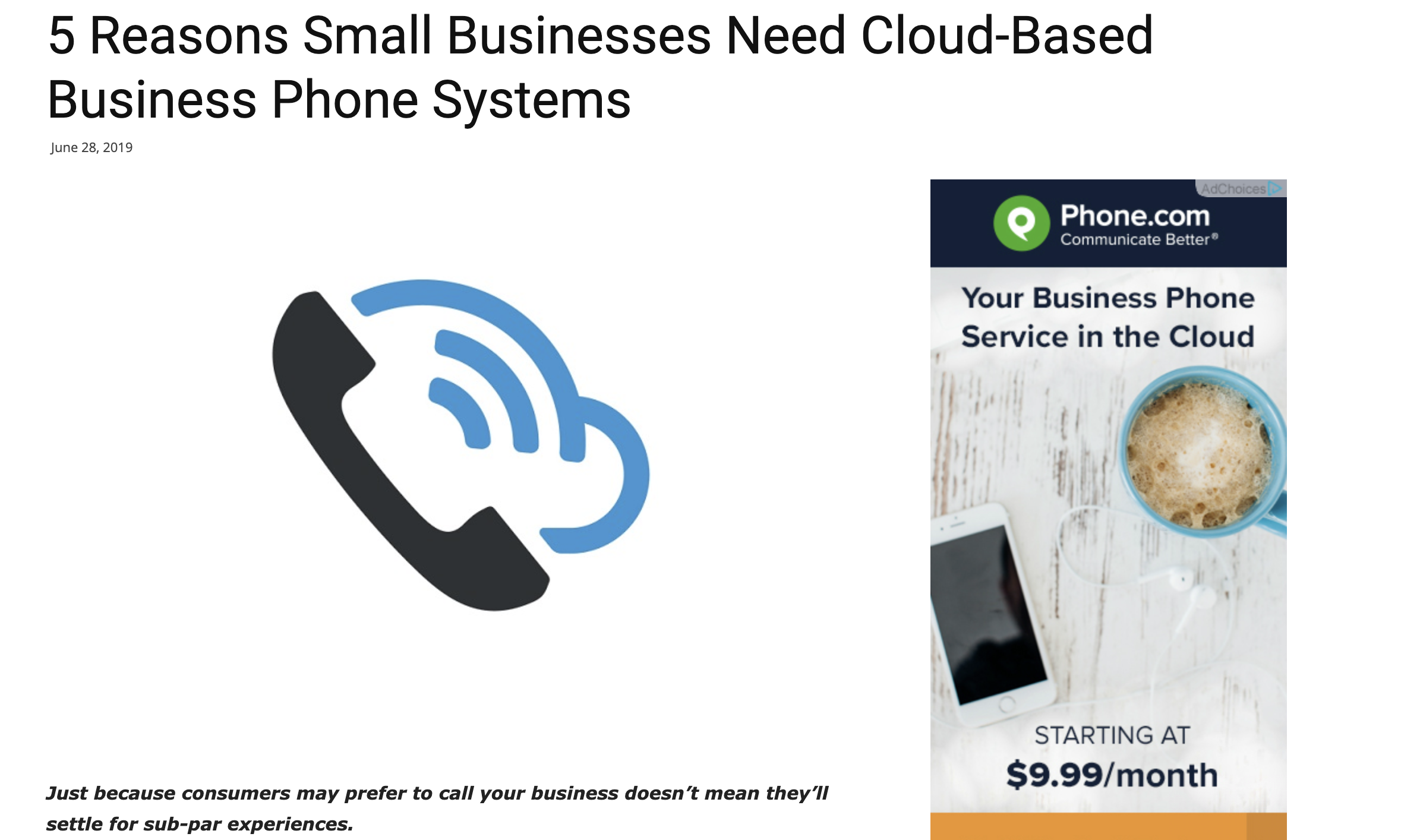 5 Reasons Small Businesses Need Cloud-Based Business Phone Systems
