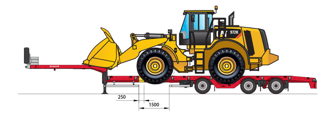 OSDS-48-03V(EBW) with CAT 972 Wheel loader