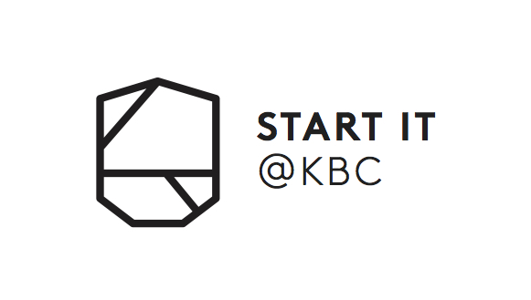 Start it @kbc logo - Black on white background