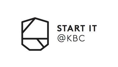 Start it @kbc logo - Black on white background