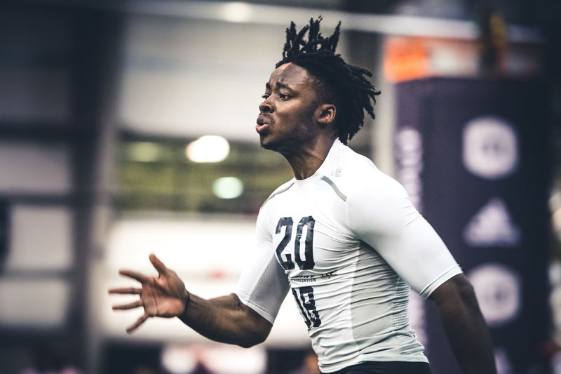 Tunde Adeleke at the CFL Combine presented by adidas. Photo credit: Johany Jutras/CFL