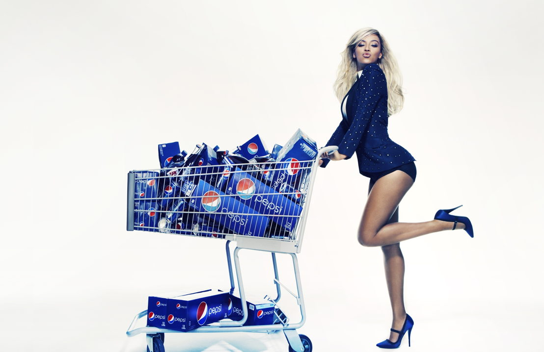 Beyonce at a Pepsi photo shoot
