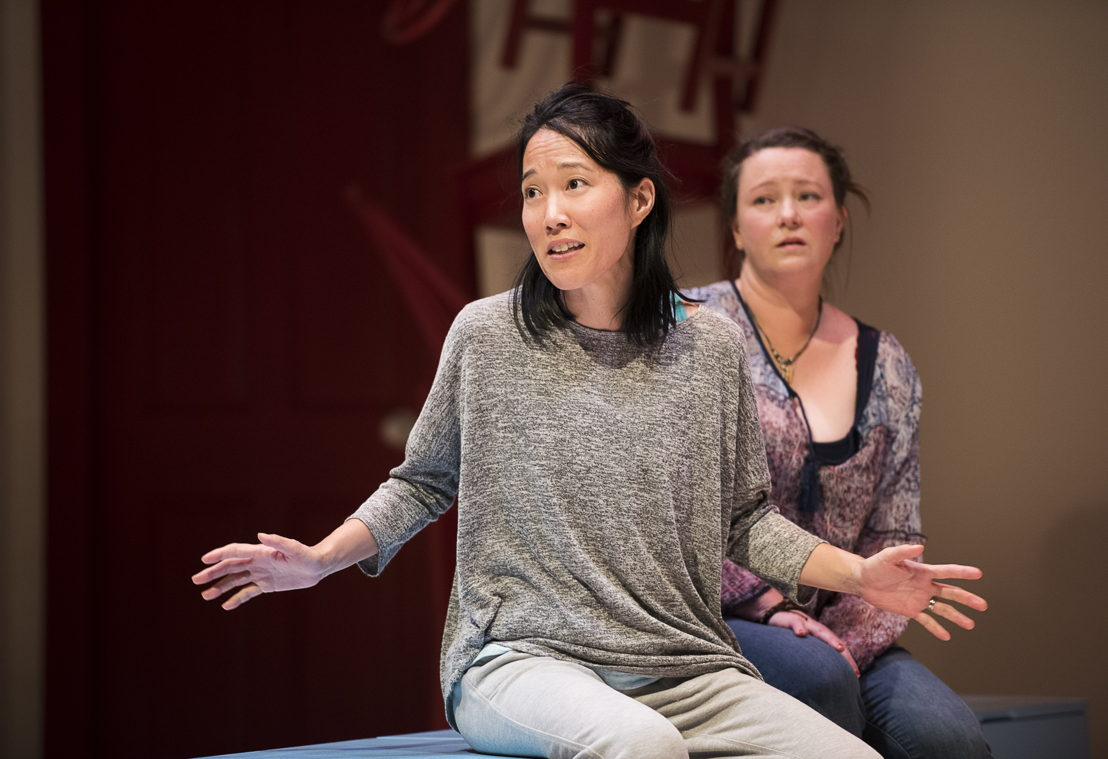 Yumi Ogawa and Jennifer Paterson star in Mom's the Word / Photos by Emily Cooper