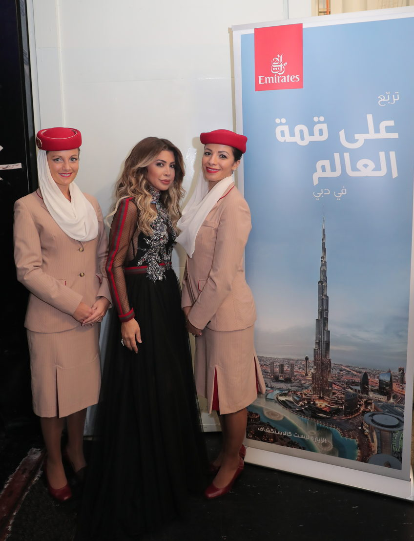 Sponsored by Emirates, the sixth edition of Stars On Board was a huge success featuring one of the leading stars from the Arab world, Nawal El Zoghbi