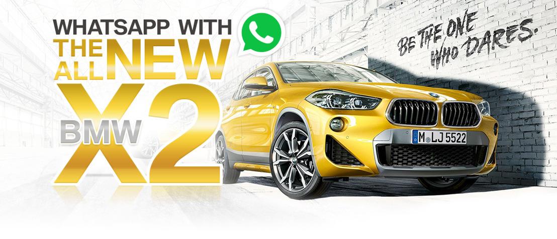 BMW en AIR laten u 'WhatsAppen' met de BMW X2