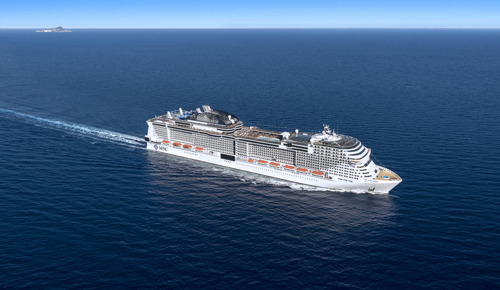 MSC Cruises viert 'float out' van MSC Grandiosa