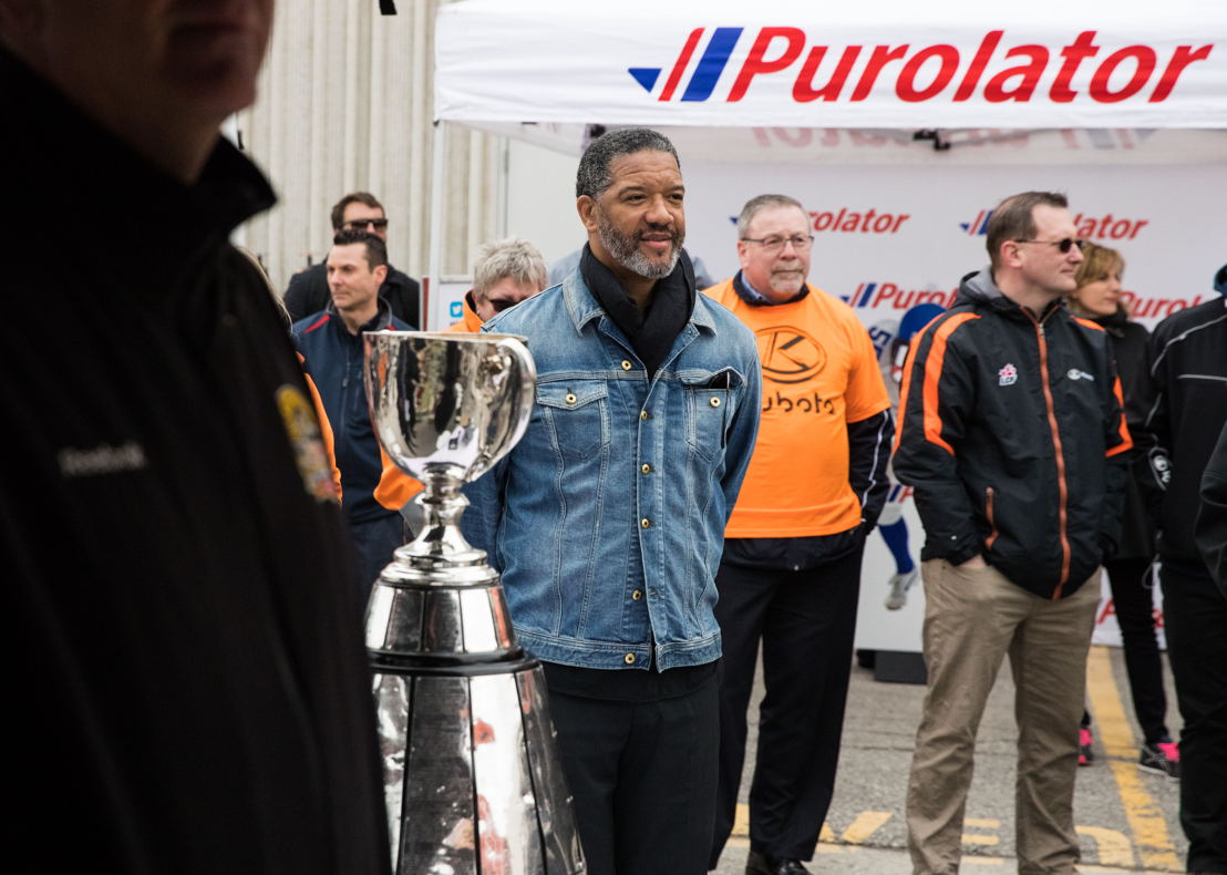 La membre du Temple de la renommée du football canadien Damon Allen (Crédit : Paul Gauthier)