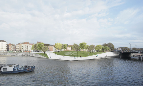Gijs Van Vaerenbergh designs 3 new connections for pedestrians and cyclists along the canal