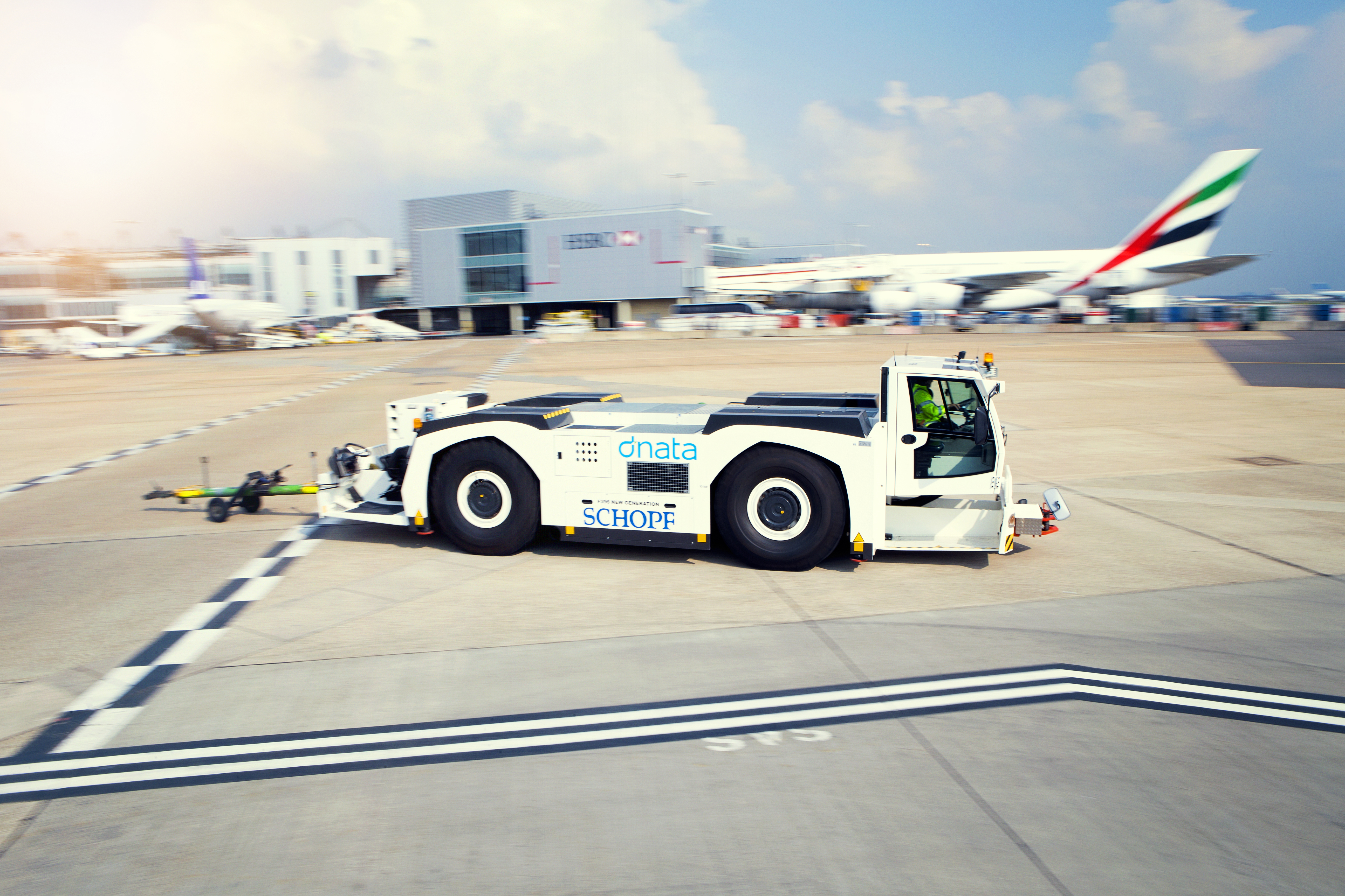dnata's Pushback Tractors Help Travellers Start Their Journey at Dubai Airport